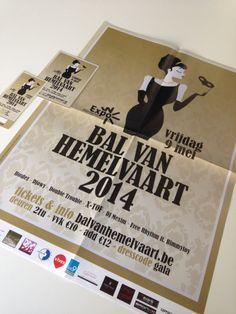 Bal van Hemelvaart 2014 - affiche, flyer, tickets