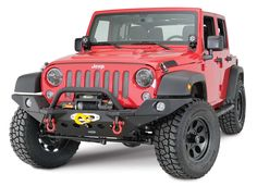 Smittybilt XRC M.O.D. Front Bumper and Full Width Endcaps with Quadratec Q-Series Winch for 07-17 Jeep® Wrangler & Wrangler Unlimited JK | Quadratec
