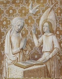 French manuscript illuminator Jean Bourdichon and his atelier, century Christian Images, Christian Art, Catholic Art, Religious Art, Angelus, Charles Viii, Medieval Paintings, Book Of Hours, Medieval Art