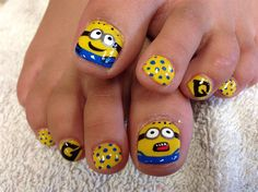 Minion by TraThanhHoang - Nail Art Gallery nailartgallery.nailsmag.com by Nails Magazine www.nailsmag.com #nailart