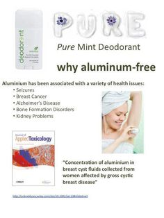 I love Arbonne's deodorant and it's aluminum free! This picture gives you a brief explanation on the importance of using an aluminum free deodorant. For more info or product details visit my web store at www.surshae.com or my FB page at surshae @Arbonne International. Consultant ID: 21565488