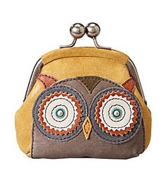 How cute is this vintage inspired owl coin purse by Fossil ? I love the cute design with kiss lock and glazed leather. Owl Purse, Cute Coin Purse, Fossil Wallet, Fossil Watches, Coin Wallet, Change Purse, Wallets For Women, Purses And Bags, Coin Purses