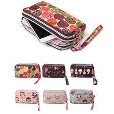 9.78$  Watch here - http://vintq.justgood.pw/vig/item.php?t=8mwrc646186 - Women Lady Triple Zip Wallet Purse Long Handbag Clutch Bag Phone Case Card Key