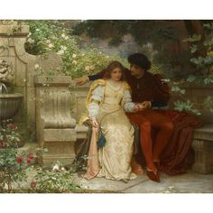 Charles Edward Perugini - LOVERS IN A GARDEN