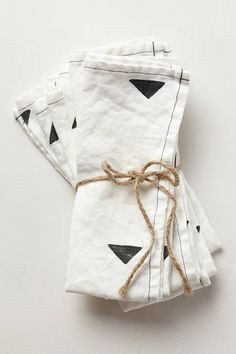 Carets Napkin Set - anthropologie.com