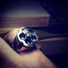 Tiratore revolver cartridge ring material: silver 92.5%