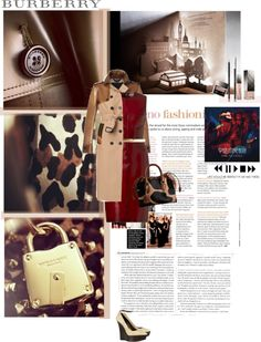 """""""Picking Up The Pieces- Burberry"""" by serena250 ❤ liked on Polyvore"""