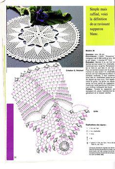 Kira scheme crochet: Scheme crochet no. Crochet Diagram, Crochet Motif, Crochet Doilies, Crochet Patterns, Crochet Hats, Oblong Tablecloth, Crochet Tablecloth, Tiny Flowers, Tatting