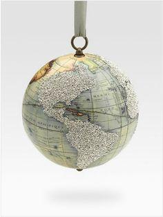 Eliot Raffit Vintage Globe Ornament at Saks