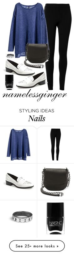 """""""untitled #255"""" by namelessginger on Polyvore featuring Max Studio, H&M, rag & bone, Circus By Sam Edelman and Nails Inc."""