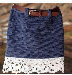 Fabulous Crochet a Little Black Crochet Dress Ideas. Georgeous Crochet a Little Black Crochet Dress Ideas. Crochet Skirt Outfit, Crochet Summer Dresses, Black Crochet Dress, Crochet Skirts, Crochet Clothes, Diy Lace Skirt, Vintage Crochet Dresses, Dress Vintage, Skirt Pattern Free