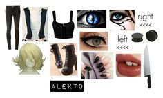 """creepypasta (oc)"" by ironically-a-strider21 ❤ liked on Polyvore featuring Paige Denim, Colorful Shoes, Charlotte Tilbury, Alessi and KAOS"