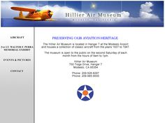 Hillier Air Museum - Classic aircraft from the 1930s and 1940s - Located at the Modesto Airport - Modesto, California