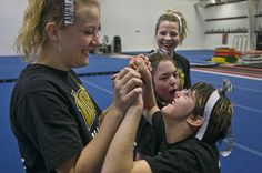 """Special needs students included in cheer program -At a time when bullying among teenagers is a constant in the news, there is a story of acceptance and inclusion Friday night.    At North Penn High School in Lansdale, students have embraced a group of """"special"""" members of the cheerleading squad.    It is all part of the school's """"Dream-Catchers"""" program."""