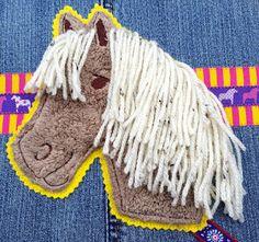 "Freebie Stickdatei "" Bella Schmusepony "" Pferd / Pony Applikation zum Sticken ( Free Embroidery )"