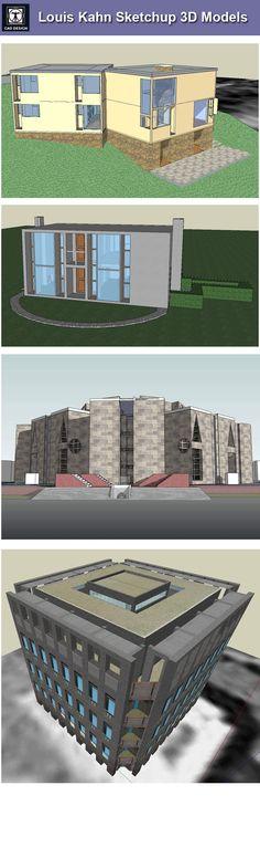 7 Louis Kahn Sketchup 3D ModelsDownload Sketchup Models,CAD Blocks,