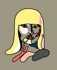 Nicky Minaj from the Rap/Pop Face series. By Magnus Voll Mathiassen