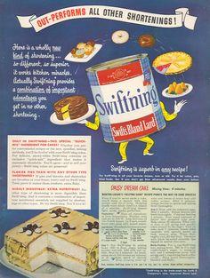SWIFT'S SWIFT'NING BLAND LARD WOMAN'S DAY 03/01/1948 INSIDE BACK