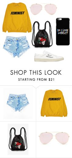 """""""feminist"""" by inae-leigh on Polyvore featuring moda, Monki e Yves Saint Laurent"""