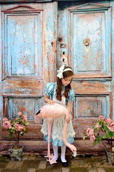 1062 Printed Blue Vintage Doors Backdrop