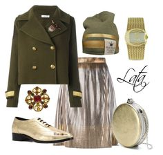"""""""Образ в стиле Милитари Шик"""" by lata404402 ❤ liked on Polyvore featuring Golden Goose, P.A.R.O.S.H., Alexander McQueen, Just Cavalli and Anine Bing"""