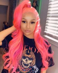 Lace Frontal Wigs Pink Hair Bleach Blonde Hair Turned Pink For Women – wigbaba Baddie Hairstyles, Weave Hairstyles, Pelo Multicolor, Cute Hair Colors, Bleach Blonde Hair, Red Wigs, Hair Laid, Lace Hair, Silky Hair