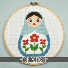 Russian Doll Cross Stitch Pattern Download sent by by Sewingseed