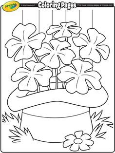Saint Patrick's Day Coloring Page from Crayola!  Your children will love this fun Saint Patrick's Day activity!