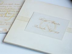 invitation card from wood