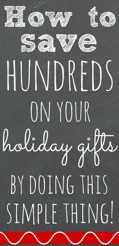How I save hundreds of dollars on holiday shopping by doing this simple thing via Pretty My Party