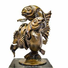 bronze sculpture by JOP VAN DRIEL