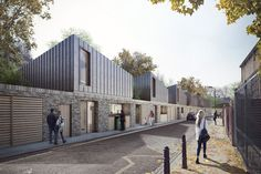 Visualisation of our Morpeth Road scheme for Peabody by Forbes Massie Brick Architecture, Architecture Visualization, 3d Visualization, Residential Architecture, Landscape Architecture, Peabody Housing, Forbes Massie, Habitat Groupé, Cgi
