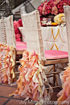 High Fashion Table Linens & Chair Covers from WildlflowerLinens. Wedding Chair Decorations, Wedding Chairs, Wedding Seating, Wedding Decoration, Wedding Ceremony, Table Linen Rentals, Table Linens, Curly Willow, Chiavari Chairs