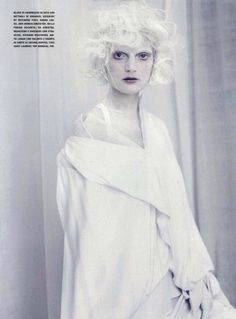 Guinevere Van Seenus by Paolo Roversi A White Story Editorial from Vogue Italia Magazine, April 2010