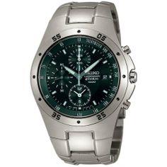 Seiko Men's SE-SND419 Titanium Dark Grey Dial Watch Seiko. $187.61. Quartz movement. Durable hardlex crystal protects watch from scratches. Titanium case. Case diameter: 45 mm. Water-resistant to 330 feet (100 M)