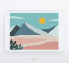 Your place to buy and sell all things handmade Simple Canvas Paintings, Small Canvas Art, Easy Canvas Painting, Mini Canvas Art, Easy Canvas Art, Gouache Painting, Minimalist Painting, Minimalist Landscape, Minimalist Canvas Art