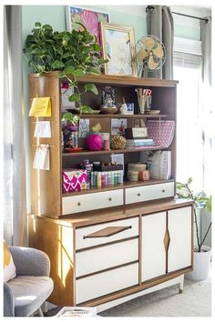 DIY Projects to Organize Your Home in Style   eHow Transform an old china hutch into an organized office command center. Complete with a built-in paper filing system, drawer dividers, and a cork board inspiration zone, your productivity will be at an all-time high. It's like having your own personal assistant for your home office.
