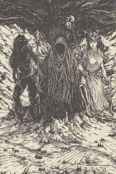 """Gullveig, Heidr, and Aurboda ascend from Nifelheim"" / Embodied <3"