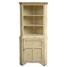 French Cottage Kitchen Corner Cabinet