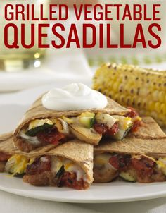 Need a vegetarian friendly grilling Labor Day recipe? We've got you covered! Save this recipe for Grilled Vegetable Quesadillas for a delicious meatless dish.