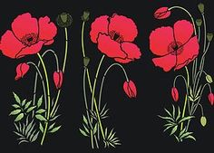 Poppy Stencil Large Poppies
