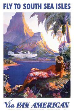 Pan Am – Südsee Kunstdruck von Lawler, Paul George Deko Wandkunst Wandtattoos
