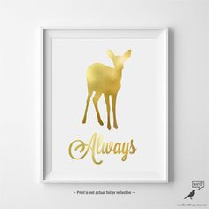 Harry Potter Poster Harry Potter Always Print von WordBirdShop
