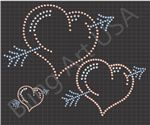 Heart Rhinestone Designs Files SVG EPS Downloads