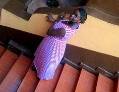 Striped maxi dress.
