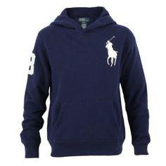 Polo Ralph Lauren Big Pony Fleece Pullover Hoodie, Navy, Medium Polo Ralph Lauren. $115.00