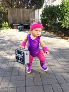 Cutest 80's workout baby ever!