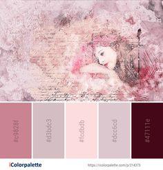 Color Palette Ideas from Pink Art Watercolor Paint Image Paint Color Palettes, Colour Pallette, Paint Colors, Color Blending, Color Mixing, Beauty Salon Decor, Pallet Painting, Color Harmony, Creative Colour