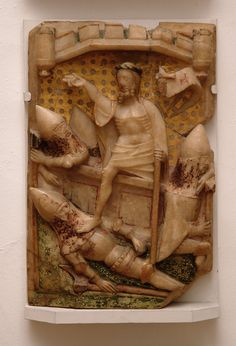 København, Nationalmuseet, alabaster relief resurrexion