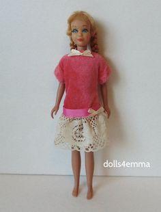 Vintage Skipper Doll Clothes Handmade Fashion antique-look dress NO DOLL d4e